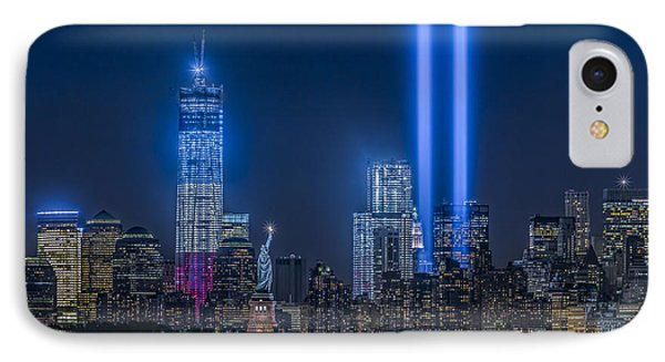 New York City Tribute In Lights IPhone Case by Susan Candelario