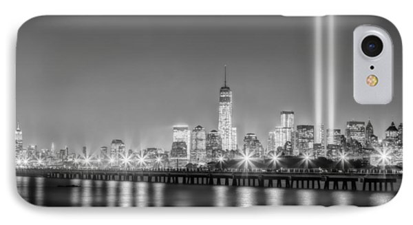 New York City Will Never Forget Bw IPhone Case by Susan Candelario