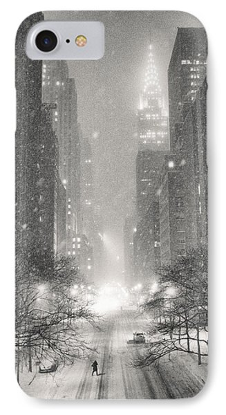 New York City - Winter Night Overlooking The Chrysler Building IPhone Case