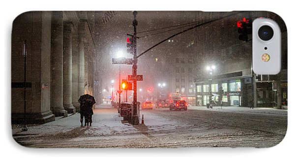 New York City Winter - Romance In The Snow IPhone Case by Vivienne Gucwa