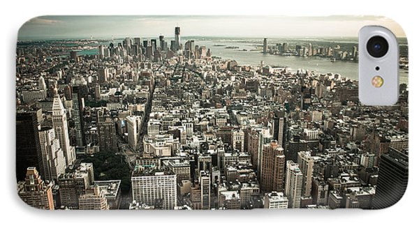 New York From Above - Vintage Phone Case by Hannes Cmarits