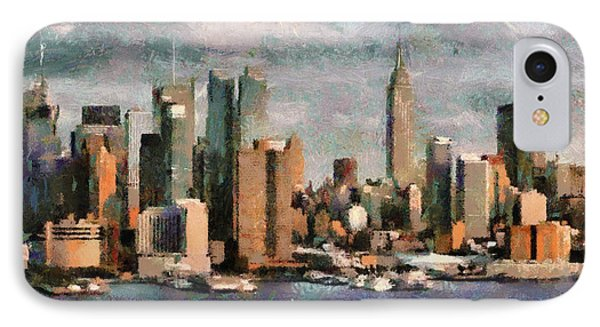 Cloudly Grey New York City IPhone Case
