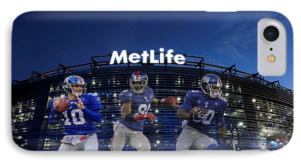 New York Giants Metlife Stadium IPhone Case by Joe Hamilton