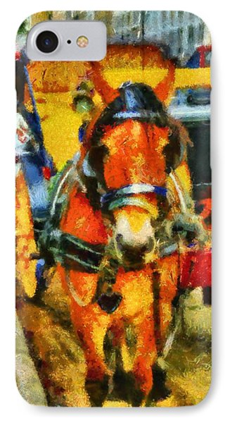 New York Horse And Carriage IPhone Case by Dan Sproul