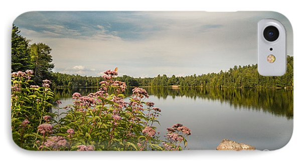 IPhone Case featuring the photograph New York Lake by Debbie Green
