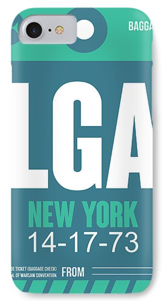 New York Luggage Poster 2 IPhone Case by Naxart Studio