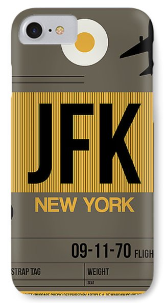 New York Luggage Tag Poster 3 IPhone Case by Naxart Studio