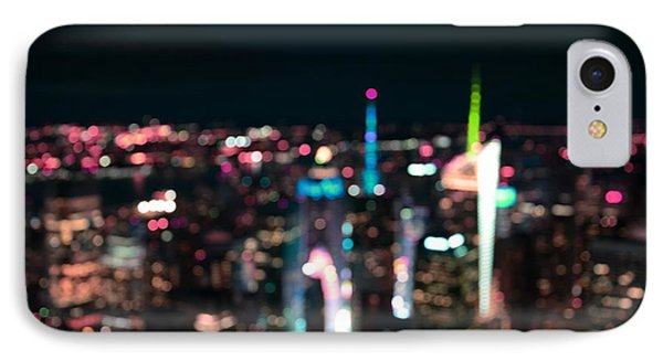 New York Manhattan Time Square Abstract IPhone Case by Marianna Mills