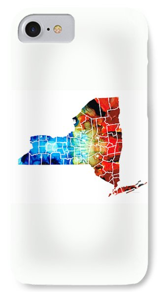 New York Mets iPhone 7 Case - New York - Map By Sharon Cummings by Sharon Cummings