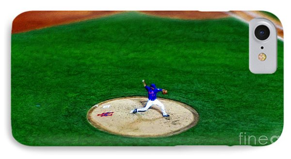 New York Mets Pitcher Abstract IPhone Case
