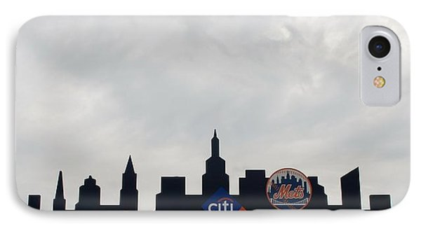 New York Mets Skyline Phone Case by Rob Hans