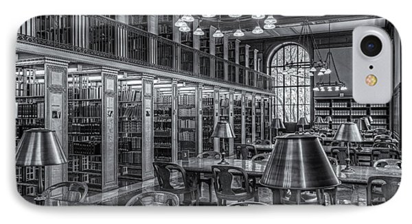 New York Public Library Genealogy Room II Phone Case by Clarence Holmes