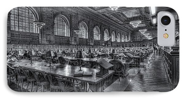 New York Public Library Main Reading Room V Phone Case by Clarence Holmes