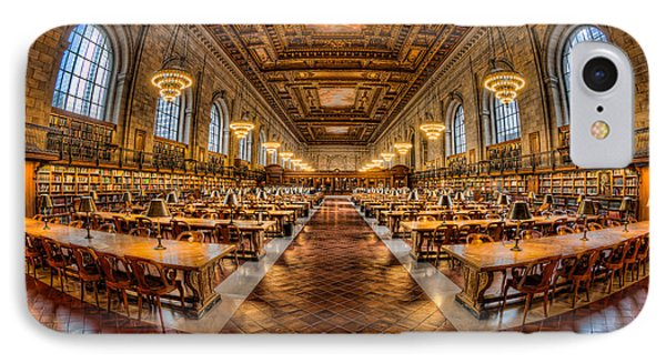 New York Public Library Main Reading Room Vii IPhone Case