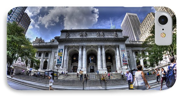New York Public Library IPhone Case by Rafael Quirindongo