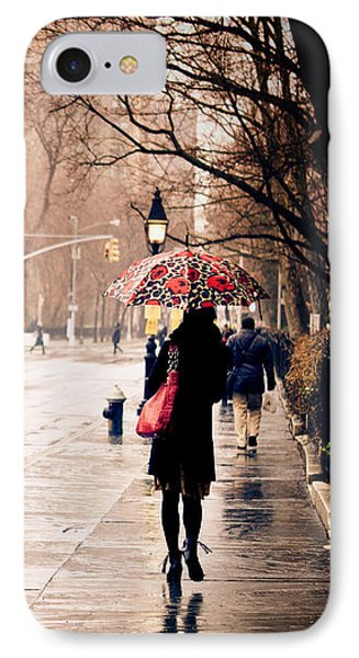 New York Rain - Greenwich Village IPhone Case by Vivienne Gucwa