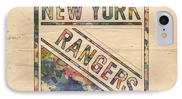 New York Rangers Hockey Poster IPhone Case