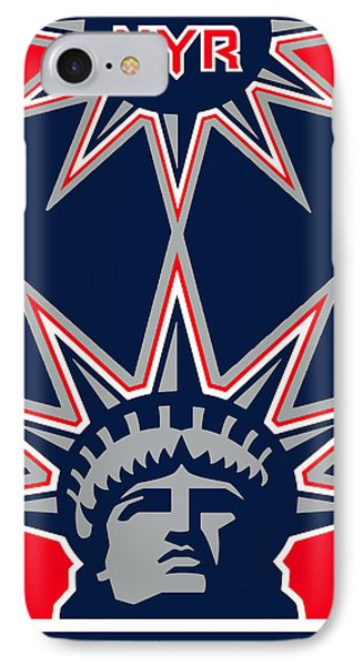 New York Rangers IPhone Case by Tony Rubino