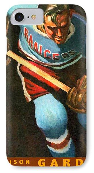 New York Rangers Vintage Poster IPhone Case by Big 88 Artworks