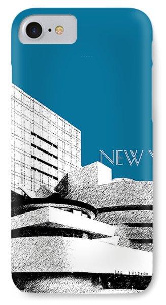 New York Skyline Guggenheim Art Museum - Steel Blue IPhone Case