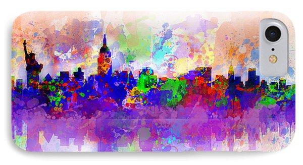 New York Skyline Splats 3 IPhone Case