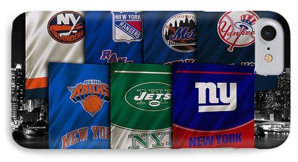 New York Sports Teams IPhone Case by Joe Hamilton