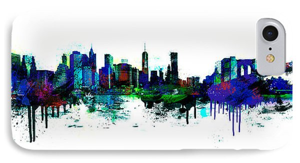 New York Spray IPhone Case by Simon Sturge