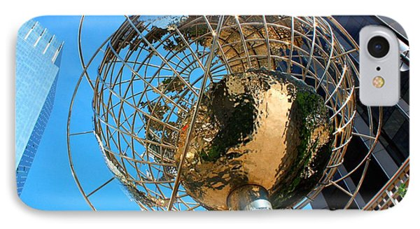 New York Steel Globe Phone Case by Jenny Hudson