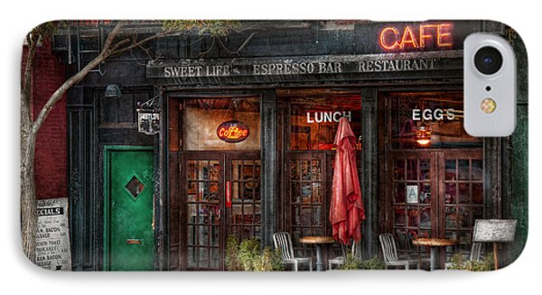 New York - Store - Greenwich Village - Sweet Life Cafe Phone Case by Mike Savad