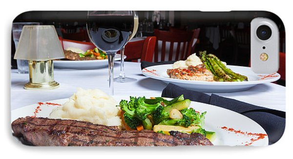 New York Strip Steak With Mashed Potatoes And Mixed Vegetables 4 IPhone Case