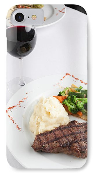 New York Strip Steak With Mashed Potatoes And Mixed Vegetables IPhone Case