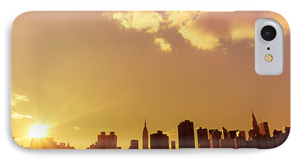 New York Sunset Skyline Phone Case by Vivienne Gucwa
