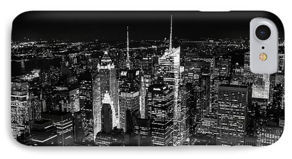 New York Times Square Bw IPhone Case
