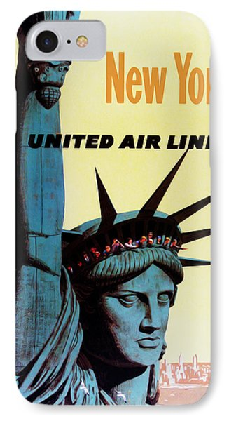 New York United Airlines IPhone Case by Mark Rogan