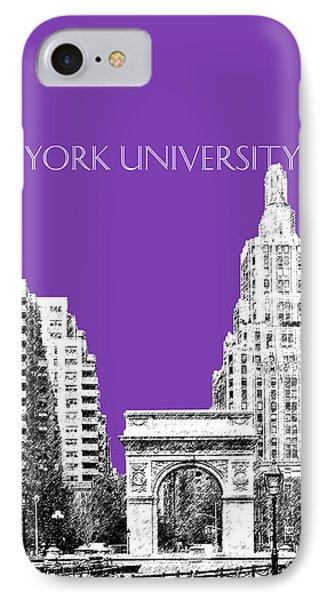 New York University - Washington Square Park - Purple Phone Case by DB Artist