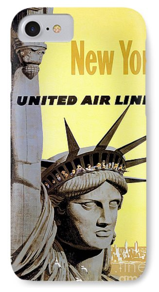 New York Vintage  Travel Poster IPhone Case