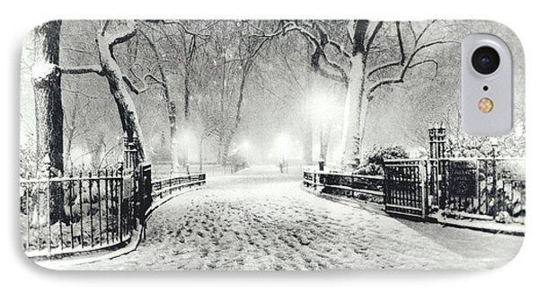 New York Winter Landscape - Madison Square Park Snow Phone Case by Vivienne Gucwa