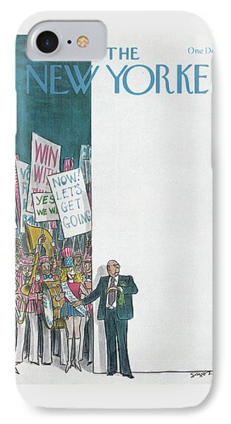 New Yorker August 11th, 1980 IPhone Case by Charles Saxon