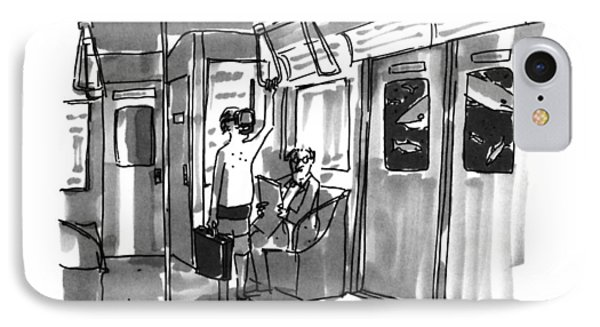 New Yorker August 14th, 1995 IPhone Case by Michael Crawford