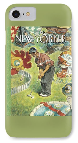 New Yorker August 21st, 2000 IPhone Case by Peter de Seve