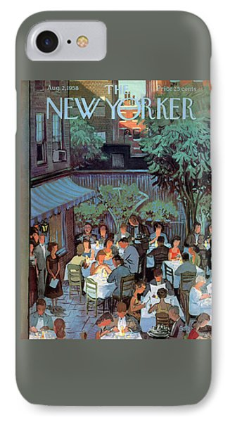 New Yorker August 2nd, 1958 Phone Case by Arthur Getz
