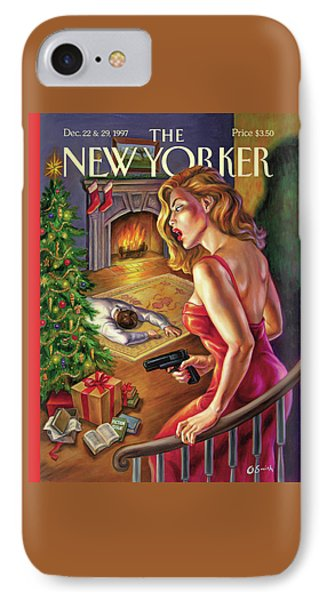 New Yorker December 22nd, 1997 IPhone Case by Owen Smith
