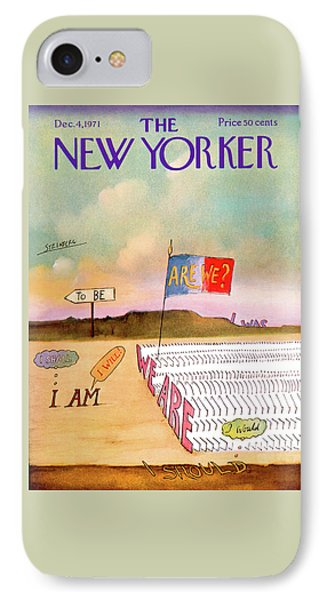 New Yorker December 4th, 1971 IPhone Case by Saul Steinberg