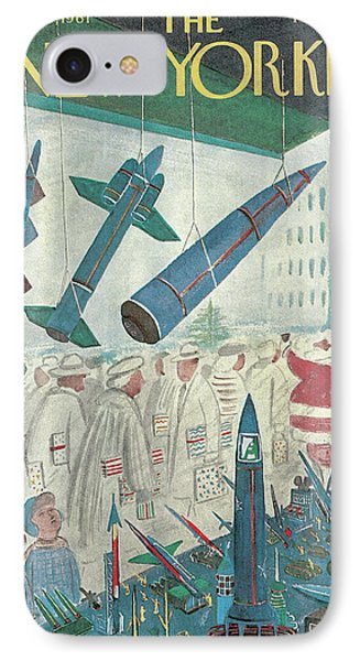 New Yorker December 9th, 1961 IPhone Case by Anatol Kovarsky