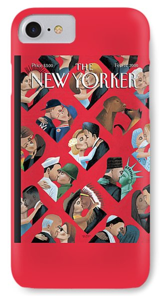 New Yorker February 14th, 2000 IPhone Case by Mark Ulriksen