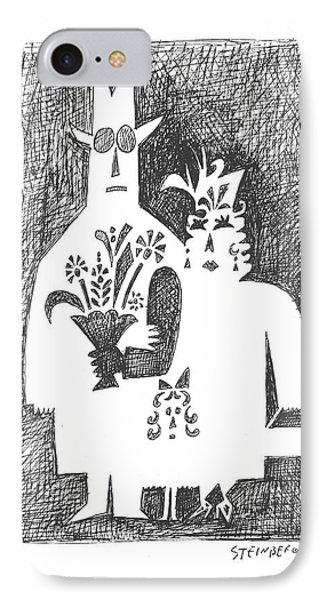 New Yorker February 22nd, 1958 IPhone Case by Saul Steinberg