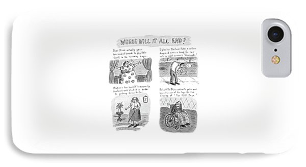 New Yorker February 23rd, 1998 IPhone Case by Roz Chast