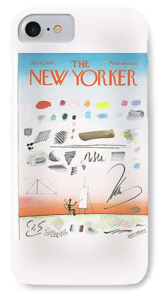 New Yorker January 11th, 1969 IPhone Case by Saul Steinberg