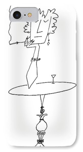 New Yorker January 18th, 1958 IPhone Case by Saul Steinberg