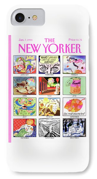 New Yorker January 7th, 1991 IPhone Case by Kenneth Mahood